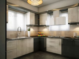 Monnaie Interiors Pvt Ltd Modern style kitchen