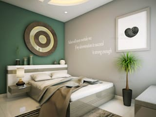 Monnaie Interiors Pvt Ltd Modern style bedroom