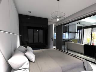 RESIDANCE 1+1 DAİRE İÇ TASARIM Modern Yatak Odası Derat Mimarlık - Tasarım / Archıtects & Interıor Modern