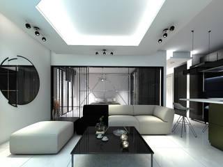 RESIDANCE 1+1 DAİRE İÇ TASARIM Modern Oturma Odası Derat Mimarlık - Tasarım / Archıtects & Interıor Modern
