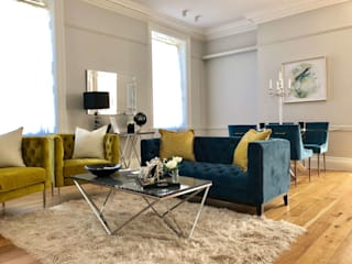Blue and Gold in Epsom: classic  by LJ Interiors , Classic