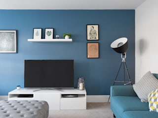 Interiors Jamie Knop Modern living room Blue