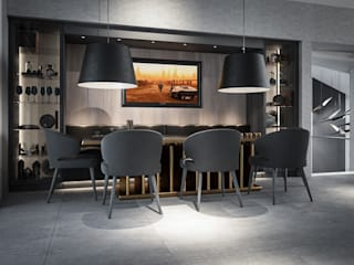 Dining area:   by Design by UBER