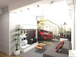 Salas de estar industriais por Arquimundo 3g - Diseño de Interiores - Ciudad de Buenos Aires Industrial