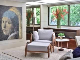 Área Social Aconchegante Salas de estar modernas por BG arquitetura | Projetos Comerciais Moderno