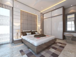 Moden Bedroom Designs:  Bedroom by Golden Spiral Productionz (p) ltd