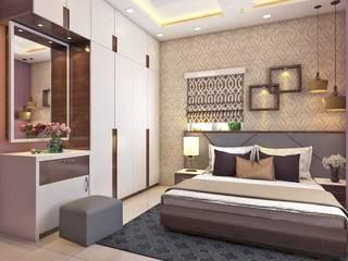 2 BHK Interior Design In Kolkata Minimalist bedroom by Best Luxury Interiors Minimalist