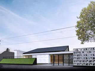 JP House:  Halaman depan by Atelier BAOU+