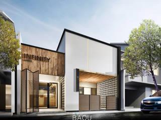 BW RETAIL FACADE:  Rumah prefabrikasi by Atelier BAOU+