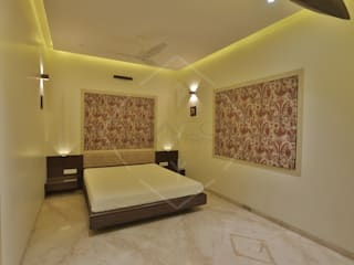 ellipse and more.. Asian style bedroom by SPACCE INTERIORS Asian