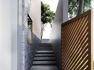 Pasillos, vestíbulos y escaleras de estilo moderno de Studio Gritt Moderno