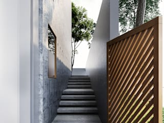 Modern corridor, hallway & stairs by Studio Gritt Modern