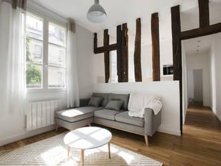 Appartement - Paris 6è - Atelier Florent: Salon de style  par ATELIER FLORENT - Architectes d'Intérieur Paris, Minimaliste
