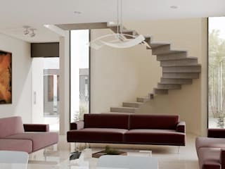 Temozón Norte: Salas de estilo  por Heftye Arquitectura