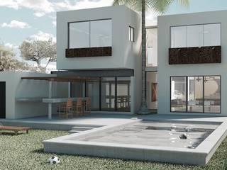 Temozón Norte: Casas unifamiliares de estilo  por Heftye Arquitectura