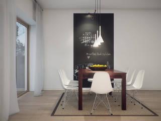 Scandinavian style dining room by Natalia Fahim Interiors Scandinavian