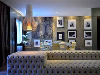 Área Social com Design Salas de estar modernas por BG arquitetura | Projetos Comerciais Moderno