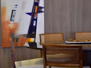 Apartamento Modelo Elegante Salas de jantar modernas por BG arquitetura | Projetos Comerciais Moderno