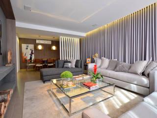 Apartamento Modelo Elegante Salas de estar modernas por BG arquitetura | Projetos Comerciais Moderno