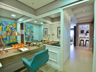 Apartamento Modelo Elegante Escritórios modernos por BG arquitetura | Projetos Comerciais Moderno