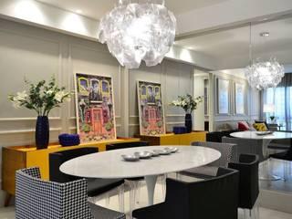 Apartamento Modelo para Público Jovem Descolado Salas de jantar modernas por BG arquitetura | Projetos Comerciais Moderno