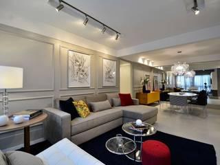 Apartamento Modelo para Público Jovem Descolado Salas de estar modernas por BG arquitetura | Projetos Comerciais Moderno