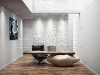 Dekorative 3D Wandpaneele aus GRC Beton: moderne Arbeitszimmer von Loft Design System Deutschland