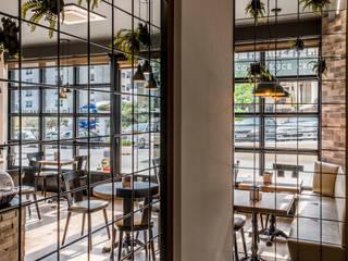Remodelação do Café da Vila, pastelaria em Fátima Espaços de restauração mediterrânicos por Oficina Design Mediterrânico