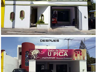 Remodelación Estética Upica: Espacios comerciales de estilo  por Jarcon Arquitectura e Ingeniería