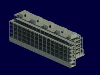 Modelado de proyecto estructural MJ-01:  de estilo  por Jarcon Arquitectura e Ingeniería