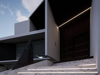 Acceso Principal: Villas de estilo  por Roguez Arquitectos