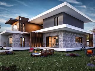 Cephe konumlama Modern Evler ANTE MİMARLIK Modern