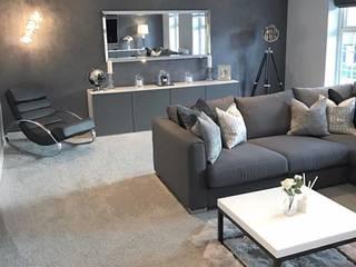 Casa Cinza super moderna Salas de estar minimalistas por AL Interiores Minimalista