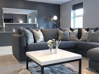 Casa Cinza super moderna por AL Interiores Minimalista