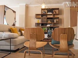 SALA ShB - details: Salas de estar  por Miljö design concept,Escandinavo