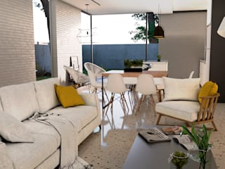 casa unifamiliar cancun: Salas de estilo  por ELOARQ,