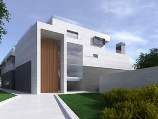 Acceso principal: Casas unifamilares de estilo  de ARQZONE 3D+Design Studio