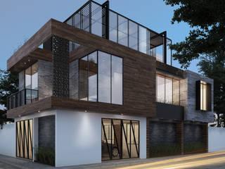Residencia GA [Silao, Gto.] 3C Arquitectos S.A. de C.V. Casas unifamiliares Hierro/Acero Negro