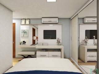 Apartamento do Casal: Quartos  por INOVE ARQUITETURA
