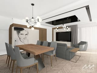 Modern Dining Room by Mleczko architektura Modern