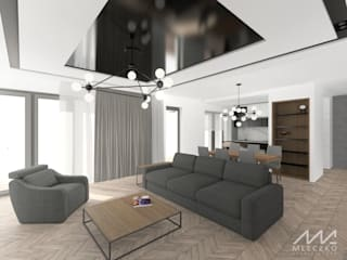 Modern Living Room by Mleczko architektura Modern