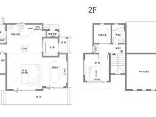 특색 있는 디자인 목조주택(충청남도 천안시): 더존하우징의 현대 ,모던