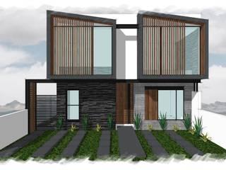Residencia GT_02: Casas unifamiliares de estilo  por 3C Arquitectos S.A. de C.V.