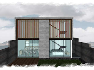 Residencia GT_03: Casas unifamiliares de estilo  por 3C Arquitectos S.A. de C.V.