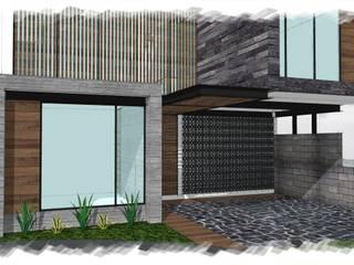 Residencia GC [León, Gto.]: Casas de estilo  por 3C Arquitectos S.A. de C.V.