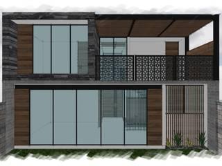 Residencia GC [León, Gto.]: Casas unifamiliares de estilo  por 3C Arquitectos S.A. de C.V.