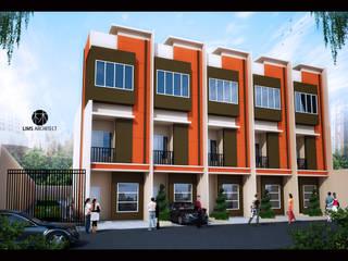 Ruko dan Town House Design Kantor & Toko Minimalis Oleh Lims Architect Minimalis
