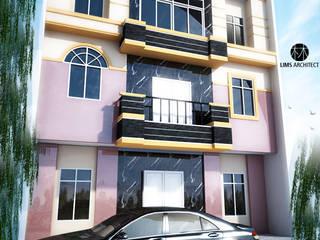 MMas Master Room & eksterior Rumah Minimalis Oleh Lims Architect Minimalis
