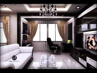 MMas Master Room & eksterior Kamar Tidur Modern Oleh Lims Architect Modern