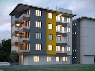 モダンな 家 の Dündar Design - Mimari Görselleştirme モダン